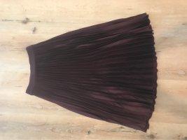 H&M Plaid Skirt blackberry-red