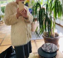 H&M Kurtka ze sztucznym futrem różany