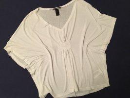 H&M Oversized Shirt white mixture fibre
