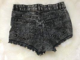 H&M grau melierte kurze Shorts