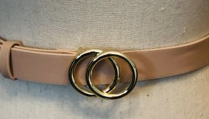 H&M Faux Leather Belt pink-gold-colored