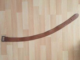 H&M Cinturón de cuero de imitación color bronce