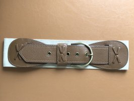 H&M Faux Leather Belt cream-light brown