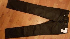 h&m, Hose,coated,neu, schwarz,skinny,regular waist, 33/32