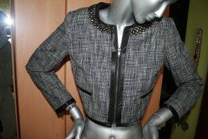H&M Jacke kurz schwarz-weiss Gr. 38