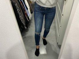 H&M Jeans cutout blau skinny 28 S Blogger Fashion
