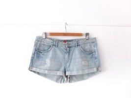 H&M Jeans Short Gr. 42 jeans hellblau used look Pants