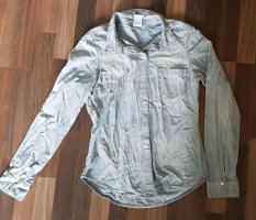 H&M - Jeansbluse mit heller Waschung