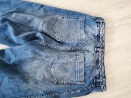H&M Jeansowe spodnie dzwony niebieski