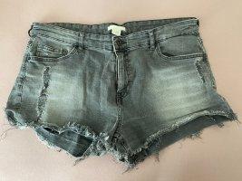 H&M Short en jean gris