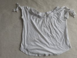 H&M l.o.o.g.bluse weiss sculterfrei gr. xs 34