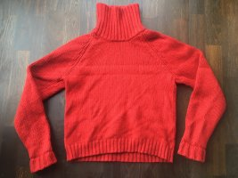 H&M Turtleneck Sweater red wool