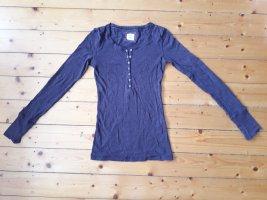 H&M Langarm-Shirt mit Knopf-Detail