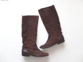 H&M Lederstiefel Gr. 40  dunkelbraun Leder Stiefel