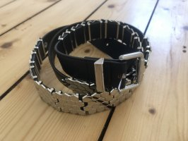 H&M Studded Belt black-silver-colored