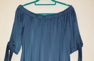 H&M Bluzka typu carmen niebieski