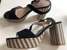 H&M Plateau-Sandale mit Riemchen, ungetragen