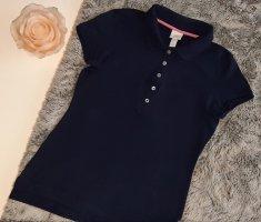 H&M Polo tshirt S 36 dunkelblau