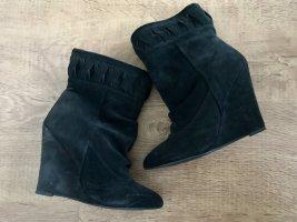 H&M Premium Boots Wedges Keilabsatz Schwarz  37
