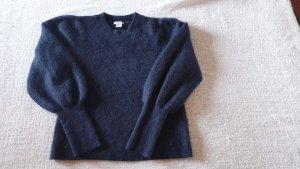 H&M Premium Pull en laine bleu-bleu foncé