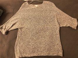 H&M Pullover Gr. M weiß grau meliert