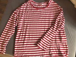 H&M Pullover Streifen Pulli rot-weiß L 40