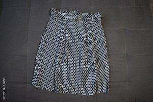 H&M Balonowa spódniczka biały-petrol