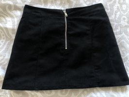 H&M Spódnica z imitacji skóry czarny-srebrny
