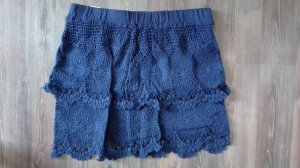 H&M Falda de encaje azul oscuro-azul Algodón