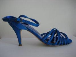 H&M sandalen neuwertig gr. 38 blau satin