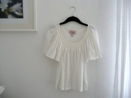 H&M Crochet Shirt white cotton
