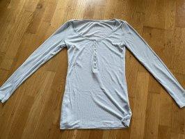 H&M shirt Oberteil Rippshirt langärmelig Größe XS 34 36