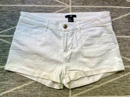 H&M Short Hot Pants 36 S weiß kurz Jeans Hose Top