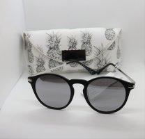 H&M Sonnenbrille Schwarz Silber inkl. Etui Ananas
