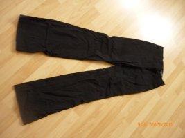 H&M Stretch Trousers black mixture fibre