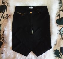 H&M Stretch Trousers black-gold-colored