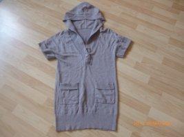 H&M Strick-Kaputzen-Long-Shirt / Pulli gr S hellbraun