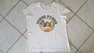 """H&M T-Shirt """" weiß """" Gr. L """" neuwertig !!!"""
