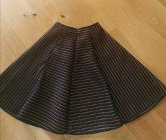 H&M Falda circular negro-coñac