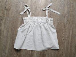 H&M Top weiß S Bluse Shirt
