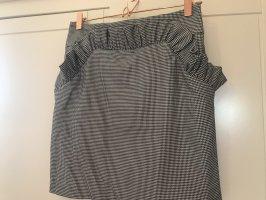 H&M Trend Minirock mit Taschen & Rüschen, feines Hahnentritt Muster