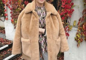 H&M Trend Premium Fellmantel Plüsch Beige Oversize Blogger Teddy Cosy