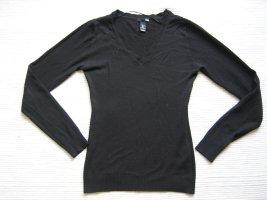 H&M v-neck pullover schwarz gr. s 36 buero topzustand