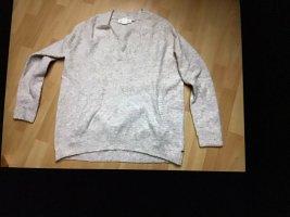 H&M  Woll V Pullover beige Gr. L Neu!