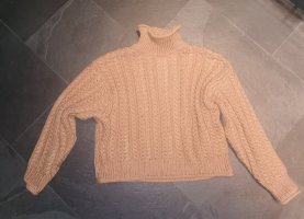 H&M Cable Sweater sand brown polyacrylic