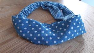 Tubesjaal wit-korenblauw