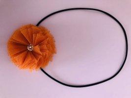 Nastro per capelli nero-arancio neon