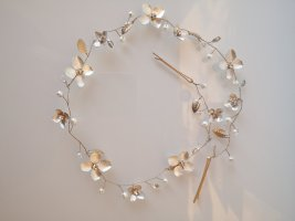 Bijou Brigitte Hair Circlet gold-colored-silver-colored mixture fibre