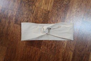 Haarband Stirnband Twist Knoten Turban Beige