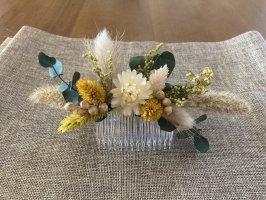 Haarkamm - Trockenblumen - Haarschmuck - Hochzeit